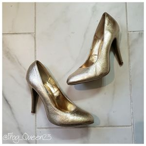 Steve Madden Gold High Heels